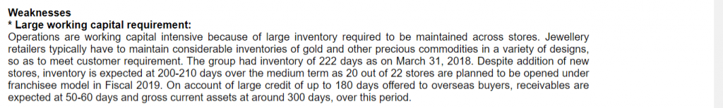 pc jeweller large inventory crisil report