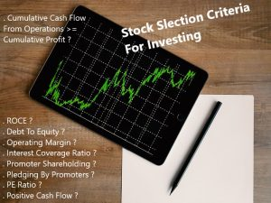 Stock Selection Criteria For Investing During Current Market Crash